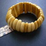 Camel Bone Stretch Chunky Bead Bracelet – CBB4