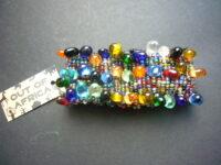 Chunky Glass Bead Stretch Bracelets – CGB1