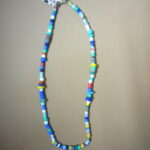 Colourful Glass Bead Boho Necklace – MN21